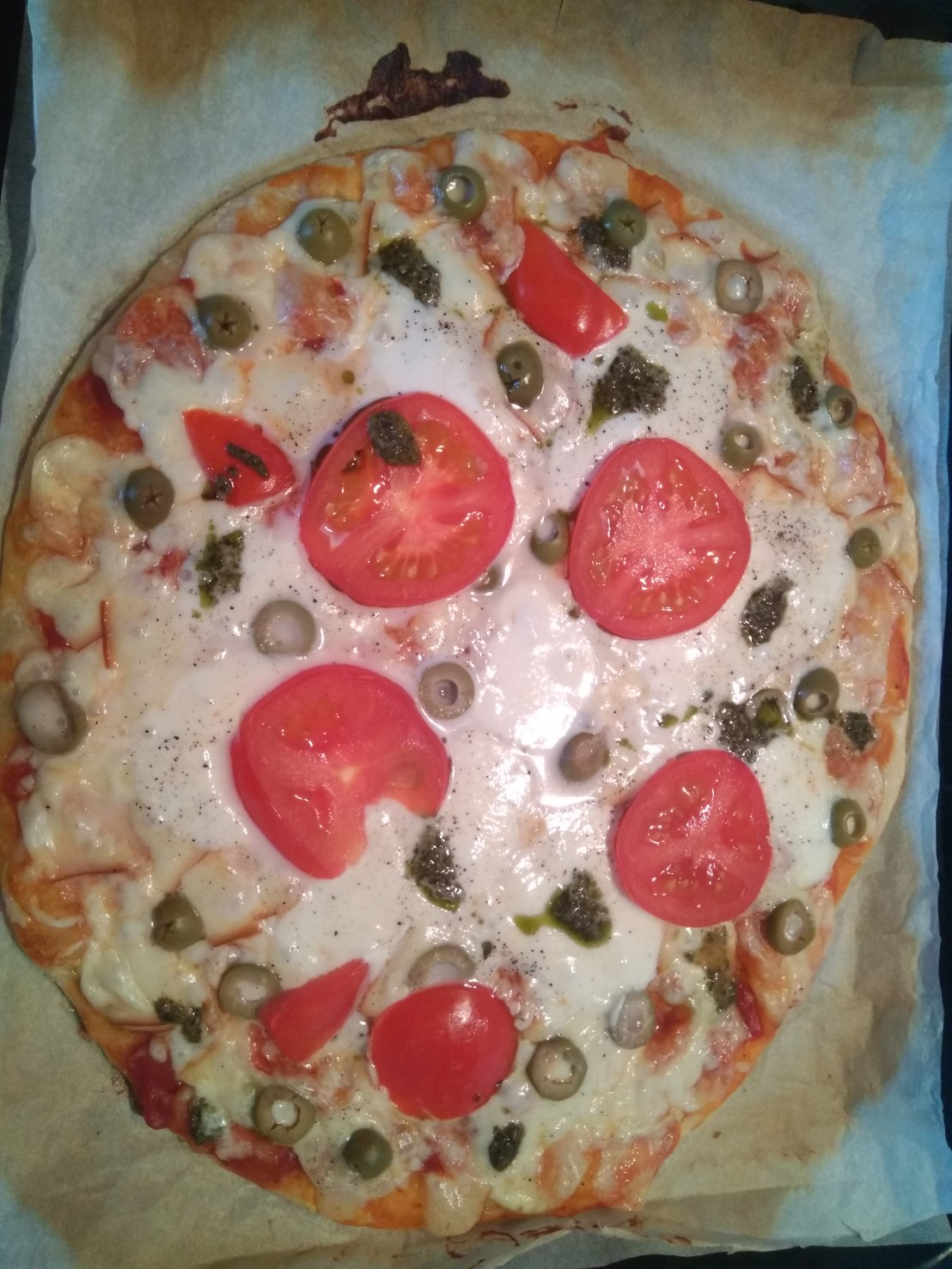 Vegetarian Homemade Pizza