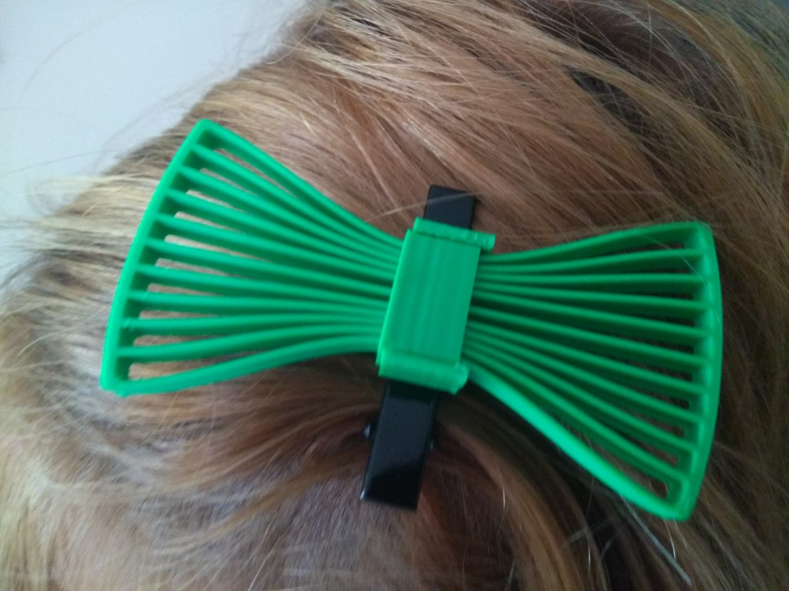 3D printed bow tie to your hair